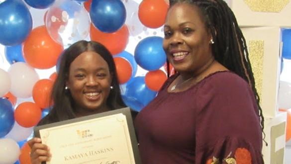 UNCF 75th anniversary scholarship recipient