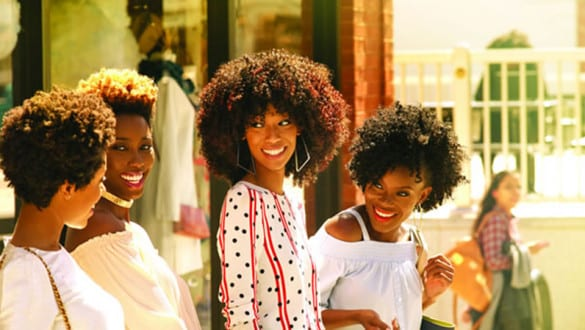 4 women with natural hair