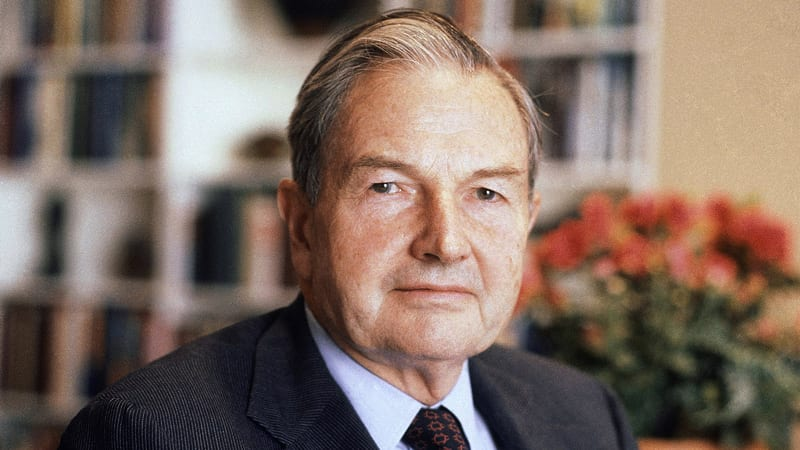 Headshot of David Rockefeller