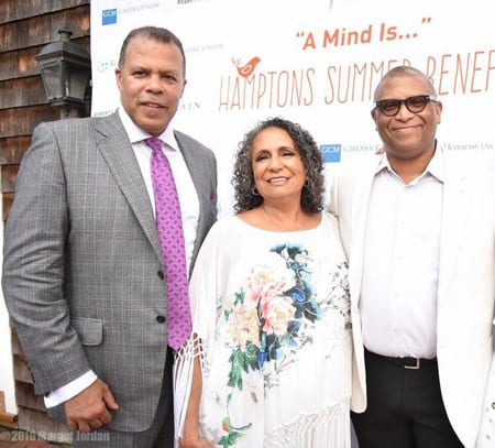 """FROM LEFT, 2016 UNCF """"KEEPERS OF THE FLAME"""" HONOREES DEREK JONES, CATHY HUGHES AND REGINALD HUDLIN"""