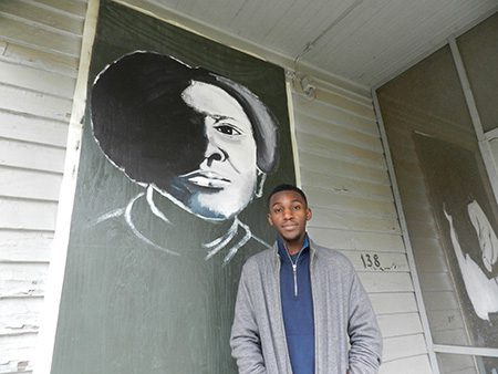 Xavier Carroll, Tougaloo student and art project