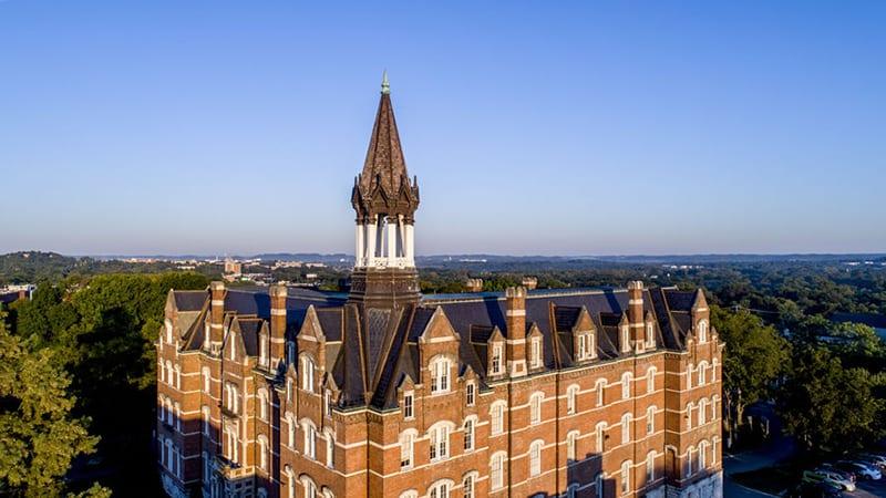 Aerial photo of Fisk Jubilee Hall