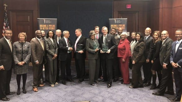 Group shot of UNCF congressional awardees