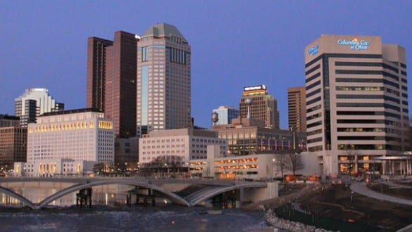 Skyline of the city of Columbus