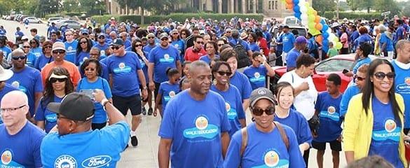 Large group shot of UNCF Walk for Education participants