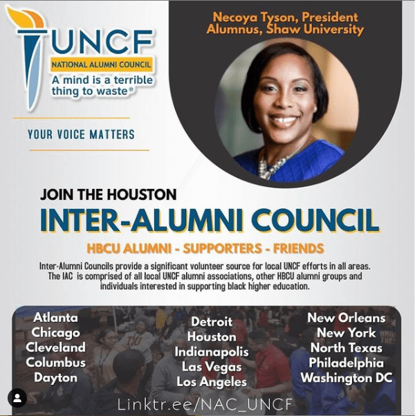 Infographic of the upcoming Inter Alumni Council