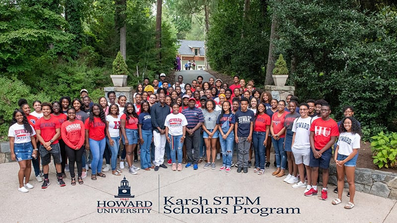 Large group shot of Karsh STEM Scholars