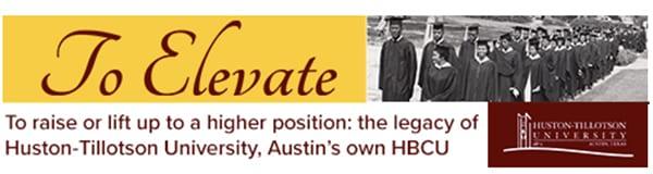 Huston-Tillotson Elevate banner