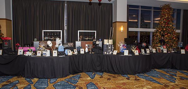 Masked Ball Silent Auction Table