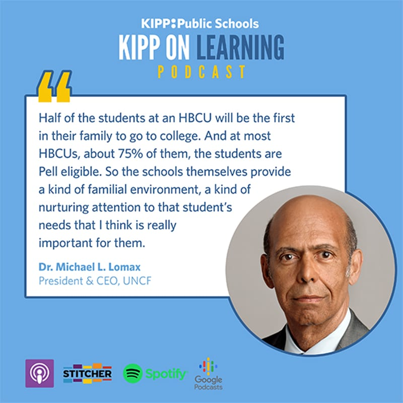 quote from dr lomax on KIPP podcast