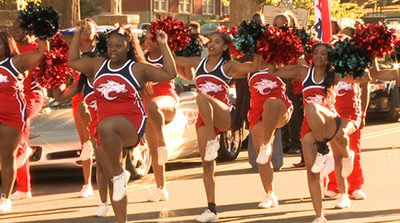 Marchers in Lane College homecoming parade