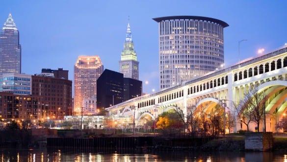 Skyline of city of Cleveland