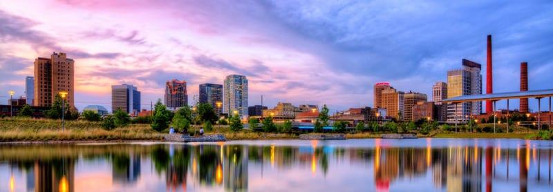 Skyline of city of Birmingham