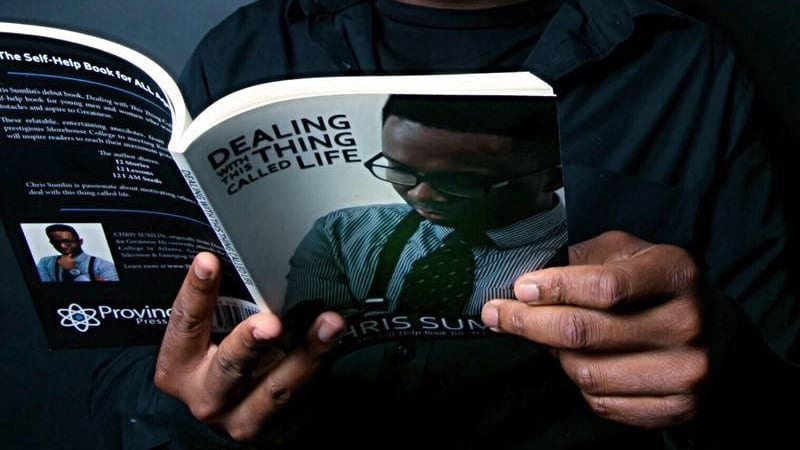 Chris Sumlin's book in someone's hands
