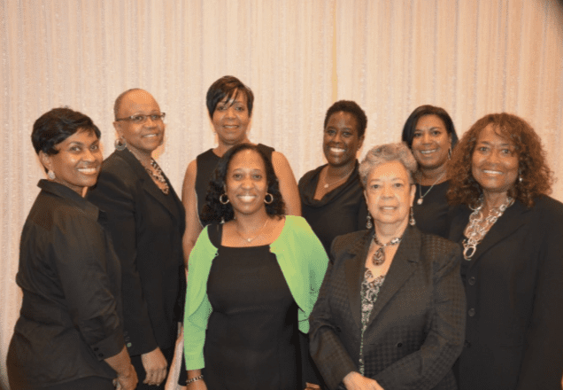 Former & Current Members of Princeton Committee of UNCF Back row (L) to (R) : Louella Phillips, Michelle Tuck– Ponder , Wanda Jackson, Paula Gordon, Lisa Redmond & Barbara Bernard Front Row (L) to (R): Michelle Roy & Rebecca White– Johnson