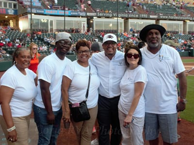 Left to right: Dianna Ruffin, Olivier Faye, UNCF's Robin Byrd,  Dr. Hakim Lucas,  UNCF's Nancy Hughes and William Johnson