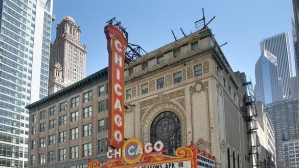 Skyline of city of Chicago