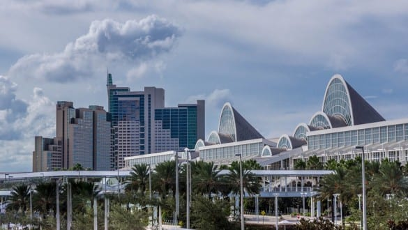 Skyline of city of Orlando