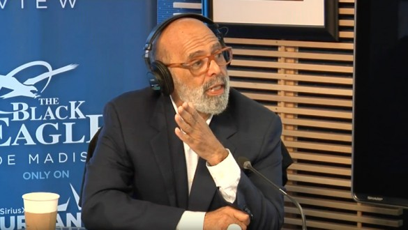 Michael Lomax being interviewed on Joe Madison radio show