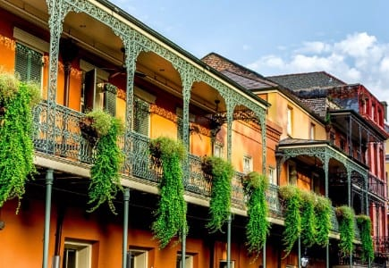 Picture of the French Quarter in New Orleans