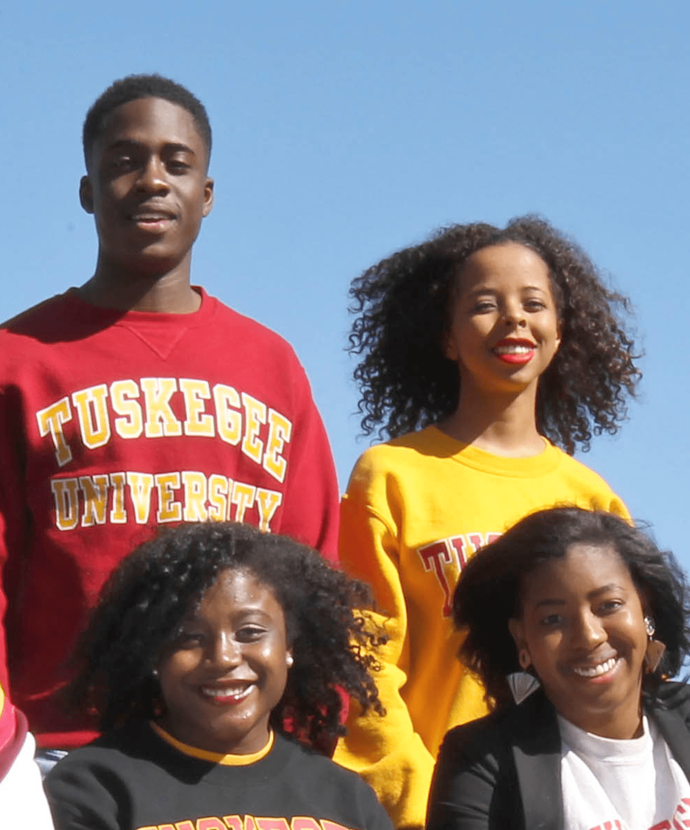 Group of four tuskegee students