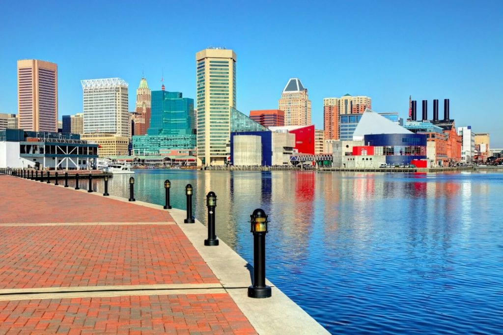 Skyline of the city of Baltimore