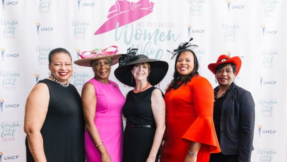 5 participants at Maya Angelou Women Who Lead Luncheon
