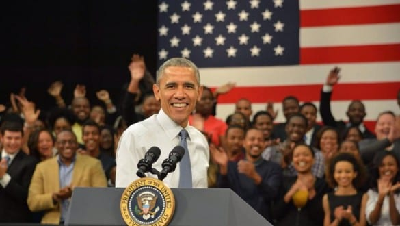 President Obama delivered remarks about education and the economy at a town hall event at Benedict College.