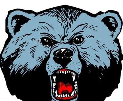 Image of a blue bear mascot drawing