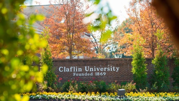 Claflin University sign