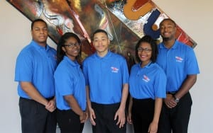 Group shot of Tougaloo College Honda All-Star Challenge Team