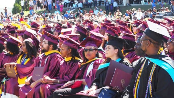 Graduation ceremony at Huston Tillotson University