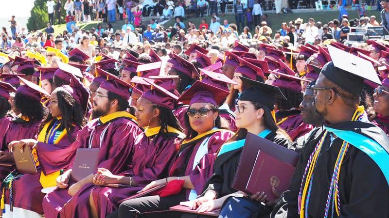 Graduation ceremony at Huston Tillotson University
