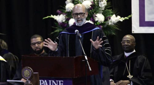 Michael L. Lomax Delivering Keynote Graduation Speech at Paine