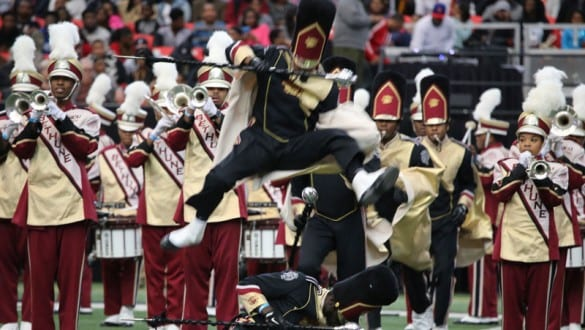 Bethune Cookman University marching band performing
