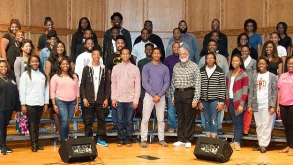 Large group shot of Wiley College choir
