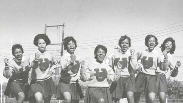 Historic image of Virginia Union University cheerleaders
