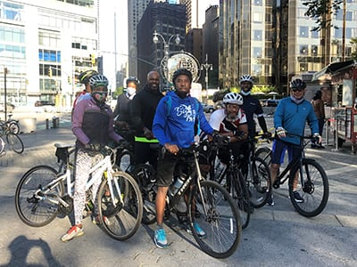 Leadership Council member, Dave Frederick, led a bike ride from the Barclay Center in Brooklyn, NY to Central Park.