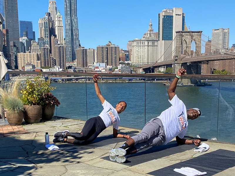 1Hotels hosted a Facebook live training session featuring fitness trainers, Brittany Watts and Rashaad Slowley, of Performix House.