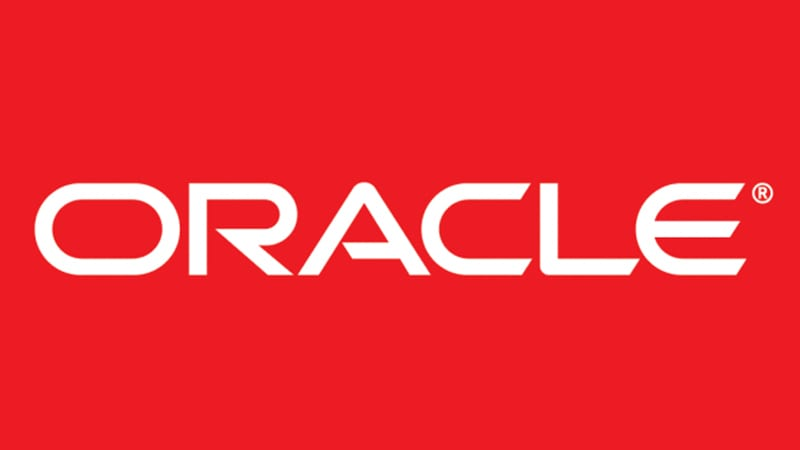 oracle logo in red