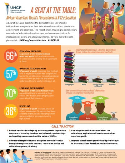 African American Youth's Perception of K-12 Education Report Factsheet Preview
