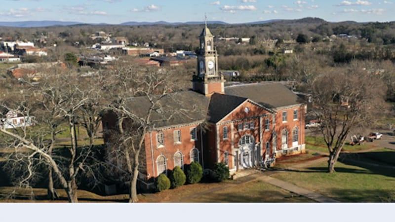 Aerial view of Talladega College Campus