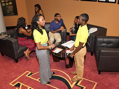 tuskegee students talking