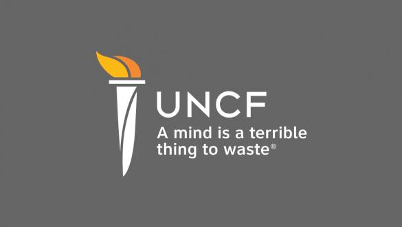UNCF logo on gray