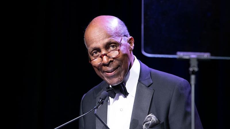 Vernon Jordan at podium
