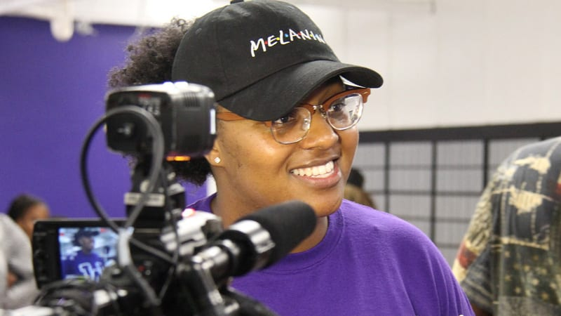 Headshot of Wiley College female student television reporter